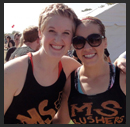 Tara and Becky before a mud run